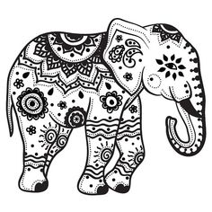 Download Elephant Coloring Pages For Adults http://procoloring.com/elephant-coloring-pages-for-adults/