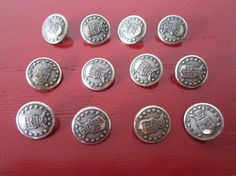A lot of 12 vintage air force uniform buttons. They are 1/2 inch in diameter.