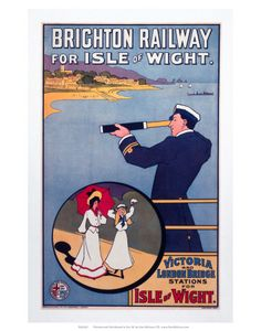Brighton Railway for the Isle of Wight, LBSCR, c.1910 Prints - AllPosters.co.uk