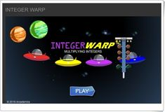 Integer Warp supports Grade 7 Common Core Math Standards in The Number System. Multiplying Integers, Math Websites, Negative Numbers, Common Core Math Standards, Math Games, Online Games, Teaching, Activities, Ipad App