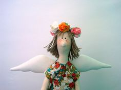 tilda doll tilda eco doll angel doll primitive decor by DianaHolub