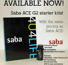 Saba ACE G2 - MORE appetite control than regular ACE. I LOVE IT! Save money this pic. Free Personalized Bling Water Bottle + tape measure + catalog.  Call me with any questions. Terri McClellan 713.882.5869  ACE Angels CoLeader  #SabaAceG2special #loseweight #appetitecontrolsuppllements