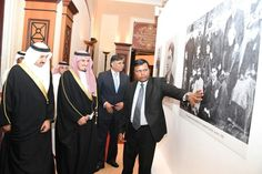 A photo exhibition celebrating the life of Mahatma Gandhi was inaugurated by the Chief Executive Officer of the Bahrain Tourism and Exhibitions Authority, Shaikh Khalid bin Humood Al Khalifa in the presence of the Foreign Ministry Undersecretary for International Affairs, Dr Shaikh Abdullah bin Ahmed Al Khalifa and the Indian Ambassador to Bahrain, Alok Kumar Sinha.