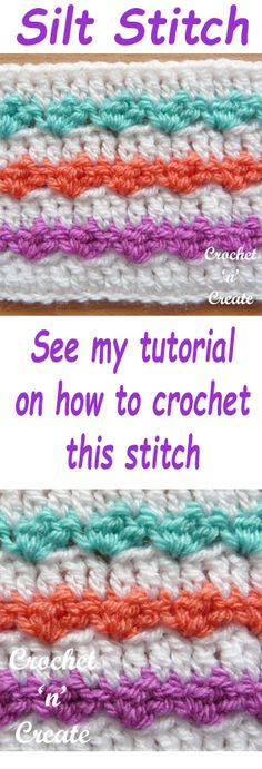 Free crochet tutorial for silt stitch, can be used for many projects. #crochet