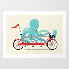 My+Red+Bike+Art+Print+by+Jay+Fleck+-+$17.00