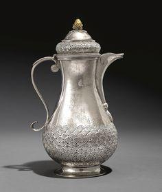 A Silver Coffee Pot, Turkey, with the TUGHRA OF ABDÜLMECID (R.1839-61) | lot | Sotheby's
