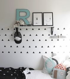 Kids Rooms | Black and white with touches of pale blue