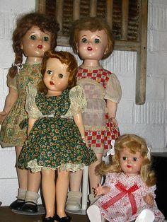 hard plastic doll group