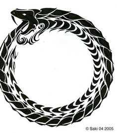 ouroboros - The eternal re-incarnation and understanding of all around you.