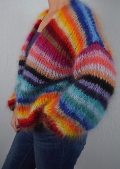 Mohair Sweater, Knitted Poncho, Sweater Coats, Knitted Hats, Cute Fall Outfits, Summer Fashion Outfits, Knit Baby Booties, Diy Clothes, Baby Knitting