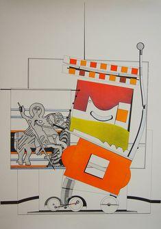 Nils Haglund - Vintage Art Print 1980's by ARTANDVINTSTORE on Etsy Vintage Art Prints, Vintage Posters, Wall Art Prints, Framed Prints, Museum Poster, Creative Poster Design, Poster Design Inspiration, Artwork, Real Life