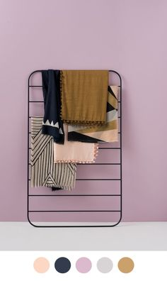 Color Collective / leaning ladder wall rack #furniture_design