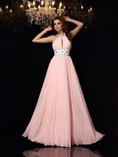 Prom Dress Beautiful, Fashion A-Line/Princess Pleats Sleeveless High Neck Long Chiffon Dresses Discover your dream prom dress. Our collection features affordable prom dresses, chiffon prom gowns, sexy formal gowns and more. Find your 2020 prom dress Fitted Prom Dresses, Plus Size Prom Dresses, Floor Length Dresses, Formal Evening Dresses, Cheap Prom Dresses, Satin Dresses, Evening Gowns, Jersey Dresses, Bride Dresses
