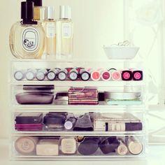 2 x Muji 2 draw Acrylic Makeup Storage