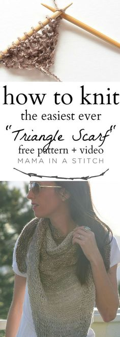 A super easy, completely beginner friendly triangle scarf.