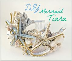 Make this easy Crown using a dollar store Tiara and transform it in to this magnificent Mermaid Crown for Halloween or just to have in your collection! Visit...
