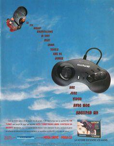 asciiPad MD for Mega Drive and Mega-CD (France, ASCII, October 1993)