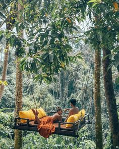 Cozy morning hangs in the forests of Ubud, Bali. Is this not the Bali dream? Photo by Explore. Voyage En Camping-car, Voyage Bali, Places To Travel, Travel Destinations, Bali Travel, Luxury Travel, Travel Goals, Travel Trip, Cruise Travel