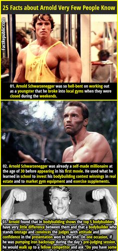 Arnold Schwarzenegger was so hell-bent on working out as a youngster that he broke into local gyms when they were closed during the weekends.