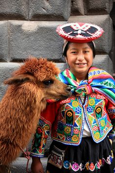 A Girl and Her Llama