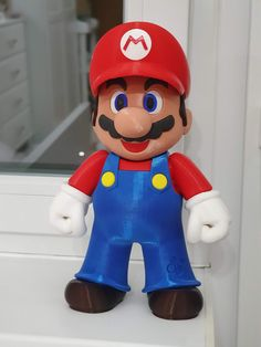 Super Mario printed on the Original Prusa MINI with Prusaments only: - PLA: Mystic Brown, Royal Blue, Pinable Yellow, Lipstick Red, Galaxy Black - PETG: Signal White, Terracotta Light Printed by Adi Nistor #toysandgames #prusamini