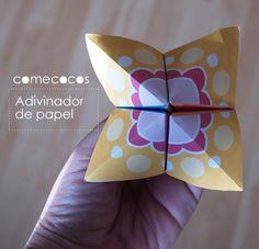 Cootie catcher -- comecocos de papel para imprimir