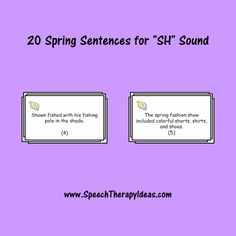 "20 Spring Sentences for ""SH"" Sound"