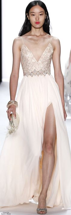 Badgley Mischka Spring 2016 RTW #coupon code nicesup123 gets 25% off at  www.Provestra.com www.Skinception.com and www.leadingedgehealth.com