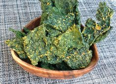 """""""dehydrated"""" kale chips"""