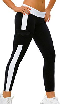 Damen Sporthose Leggings Hosen Lange Stretch Running fitness Pants schwarz+WeiB,M 4HOW http://www.amazon.de/dp/B00WJQ99G4/ref=cm_sw_r_pi_dp_lJLqwb1JB3059