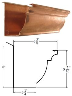 Eclipse Millennium Copper Gutter. The most attractive gutter profile available anywhere.