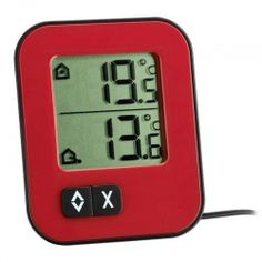 Thermometer, Digital Alarm Clock, Cool Things To Buy, Compact, Ebay, Decor, Products, Inside Outside, Red Black