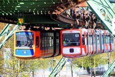 suspended train in Wuppertal, North Rhine-Westphalia, Germany