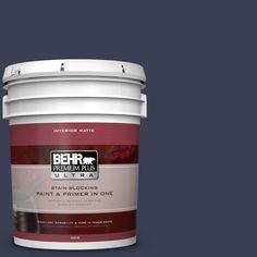 BEHR Premium Plus Ultra 5 gal. #hdc-CL-26A Indigo Ink Matte Interior Paint