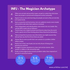 The INFJ are often described as mysterious, perhaps due to their private, withdrawn nature. You have a love for exploring the unknown. Infj Traits, Infj Mbti, Enfj, Carl Jung, Myers Briggs Infj, Infj Type, Infj Personality, Advocate Personality Type, Leadership Quotes
