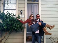Audra & Johnny at their first home in San. Fran. CA