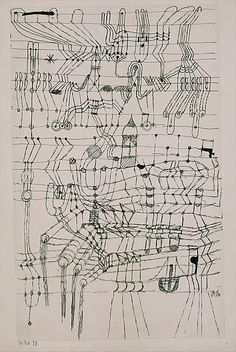 Paul Klee | Drawing Knotted in the Manner of a NetbyPaul Klee (German (born Switzerland), Münchenbuchsee 1879–1940 Muralto-Locarno)