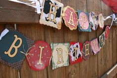 Farm/Western Theme Party Happy Birthday Banner