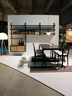 Omakotivalkoinen_Habitare2015_TapioAntti Shelf System, Chair Design, Scandinavian, Desk, Shelves, Dining, Interior, Table, Furniture