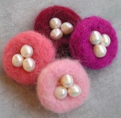 Love Nest Needle Felted Pin or Magnet by Foxgloves on Etsy, $8.00