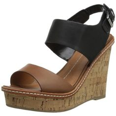 DV By Dolce Vita Womens Jonee Leather Colorblock Wedges
