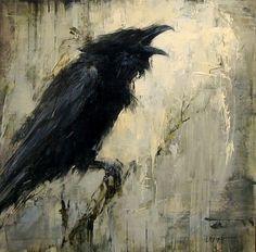 Raven artwork By Lindsey Kustusch Crow Art, Raven Art, Bird Art, Tattoo Crane, Gravure Photo, Crow Painting, Art Aquarelle, Crows Ravens, Arte Horror