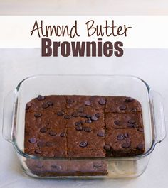 Fudgy homemade brownies - I make these at least once a week... No one ever can tell they're so healthy! ...from @choccoveredkt... Full recipe: http://chocolatecoveredkatie.com/2015/10/19/almond-butter-brownies-flourless-vegan/