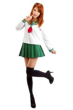 SDWKIT InuYasha Cosplay Costume Higurashi Kagome Winter Uniform V1 Set S >>> Click on the image for additional details.