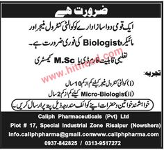 Caliph Pharmaceuticals (Pvt) Ltd Job Opportunity Quality Control Manager  Micro Biologist  Send your CV & documents: Caliph Pharmaceuticals (Pvt) Ltd Plot # 17, Special Industrial Zone Risalpur (Nowshera) info.caliphpharma@gmail.com, www.caliphpharma.   #Manager Quality Control #Micro Biologist #Nowshera Jobs #Pharmaceuticals Jobs