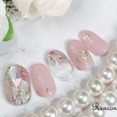 Wow Nails, Glam Nails, Beauty Nails, Cute Nails, Korean Nail Art, Korean Nails, Cute Nail Art Designs, Kawaii Nails, Stylish Nails