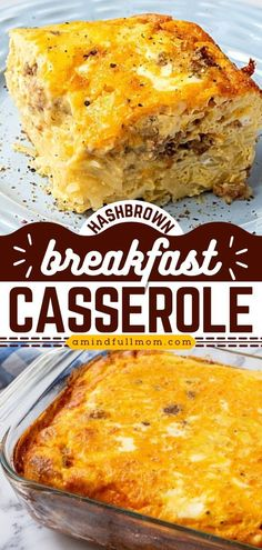 Look no further than the BEST breakfast casserole recipe! Everyone loves this easy breakfast casserole with hashbrowns, eggs, cheese, and sausage. Prepare it the night before or in the morning for… Hashbrown Breakfast Casserole Bacon, Easy Breakfast Casserole Recipes, Overnight Breakfast Casserole, Brunch Recipes, Egg Bake With Hashbrowns, Christmas Breakfast Casserole, Breakfast Time, Breakfast Dishes, Breakfast Ideas