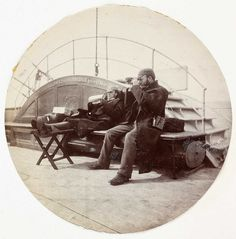 Two men on the deck of a ship, about 1890    National Media Museum - Kodak Gallery Collection