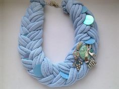 New modern necklace substitute for a scarf by JewelleryHappyDay