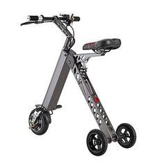 250W motor smart 3-wheel electric folding bikes for adult